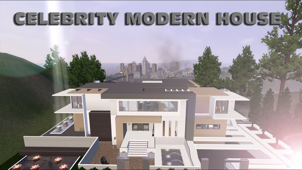 Sims 3 modern celebrity house youtube