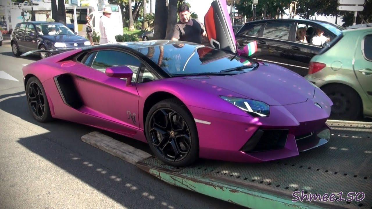 Epic Fuchsia Lamborghini Aventador Nasser Althani Youtube