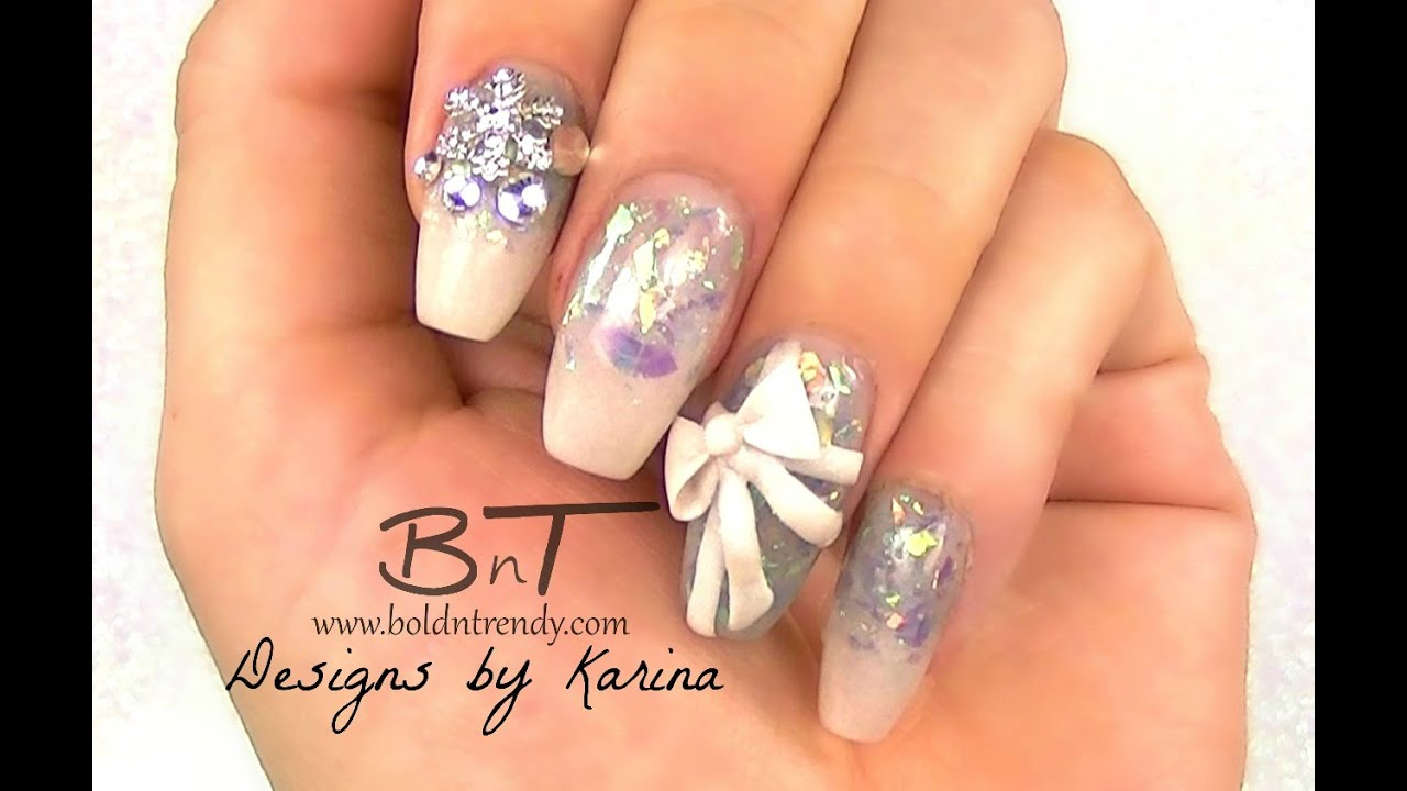christmas nail design ideas my nails for christmas 2015 acrylic nail designs e054 youtube