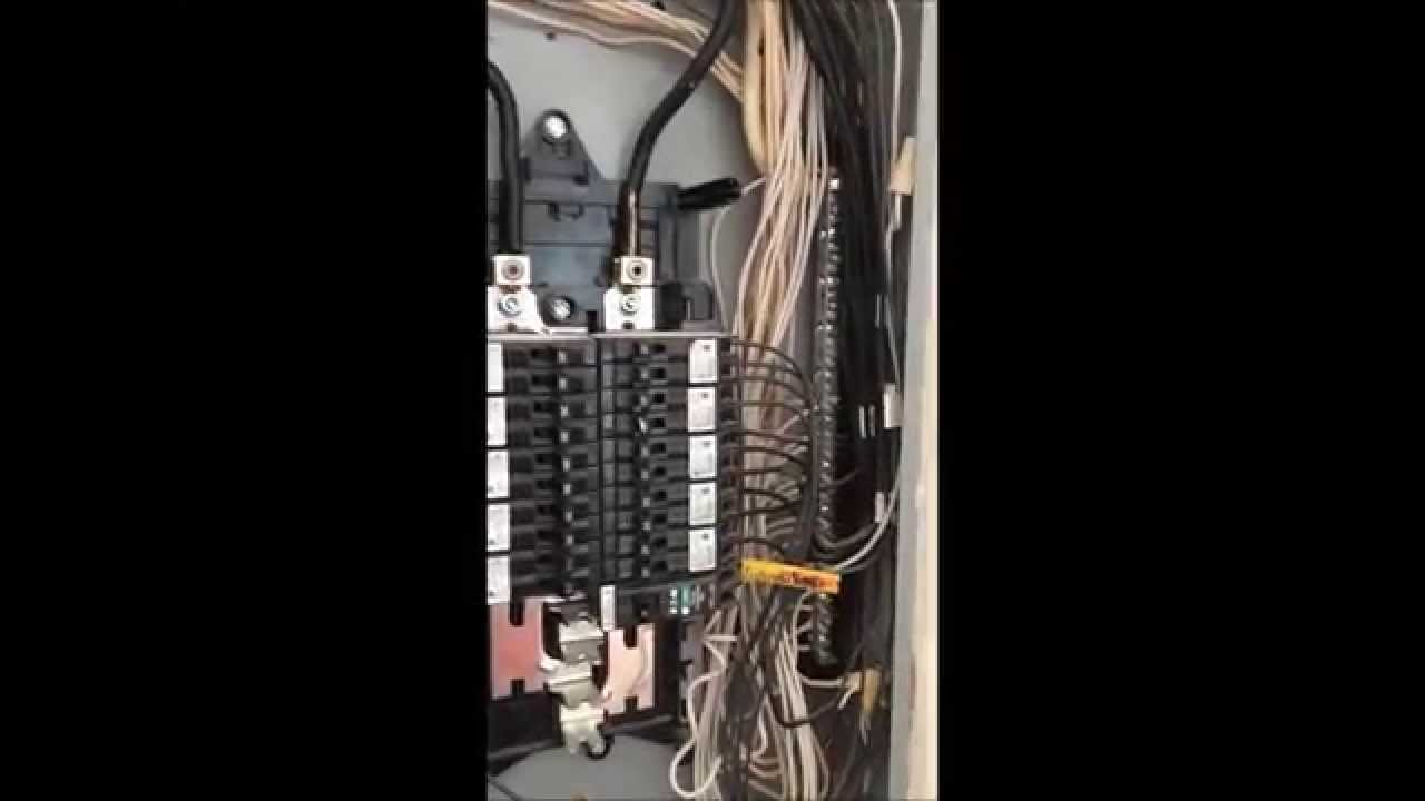 How To 200 Amp Main Electrical Panel Youtube Circuit Breaker Wiring