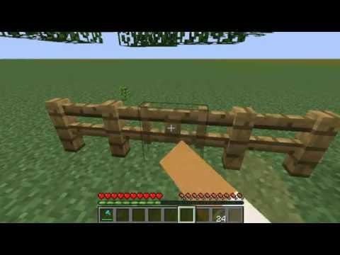 como fazer cerca e porta da cerca minecraft (XD)