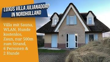 Luxus Villa Julianadorp Nordholland, WLAN, Sauna, Hunde kostenlos, Zaun, nur 500 m zum Strand