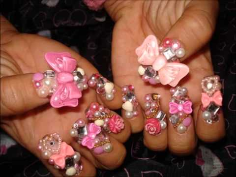 50 Most Beautiful 3d Nail Art Designs For GirlsPart I