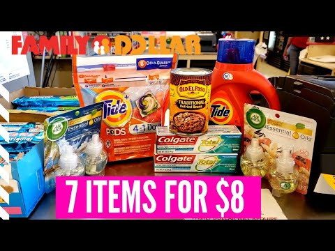 Family Dollar Couponing ALL DIGITAL COUPONS! 7 items for $8