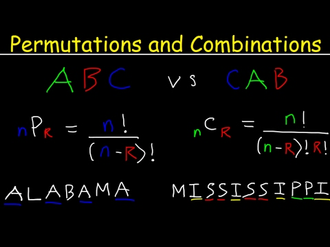 Permutations and Combinations Tutorial