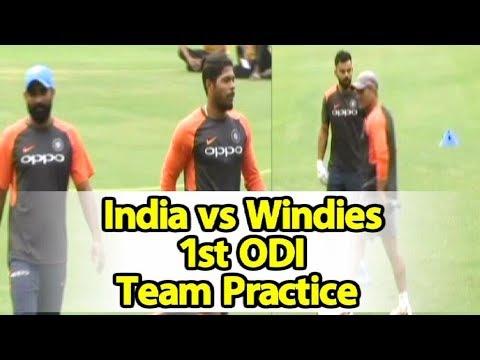 Watch Video: India & West Indies Team Practice In Guwahati | Sports Tak