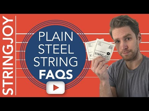 Your Top Plain Steel Strings Questions, Answered.