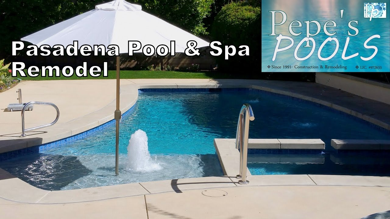 Los Angeles Pool Builder Pepe S Pools Pasadena Remodel Spa