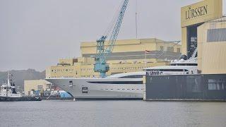 4K | FLOAT OUT New Yacht JUPITER - time-lapse