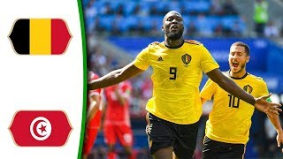 Belgium Vs Tunisia 5 - 2 World Cup ● 23/06/2018 HD
