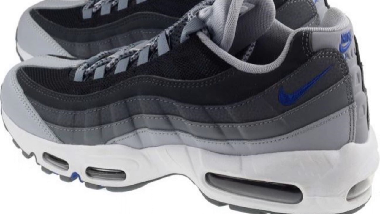 1dcb1b5c7a3 NIKE SHOES MENS AIR MAX 95 ESSENTIAL WOLF GREY GAME ROYAL BLACK. Landaustore