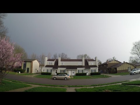 Tornado Warning in Springfield, Illinois on April 9, 2015 (GoPro HERO4 Black 4K Time Lapse Video)