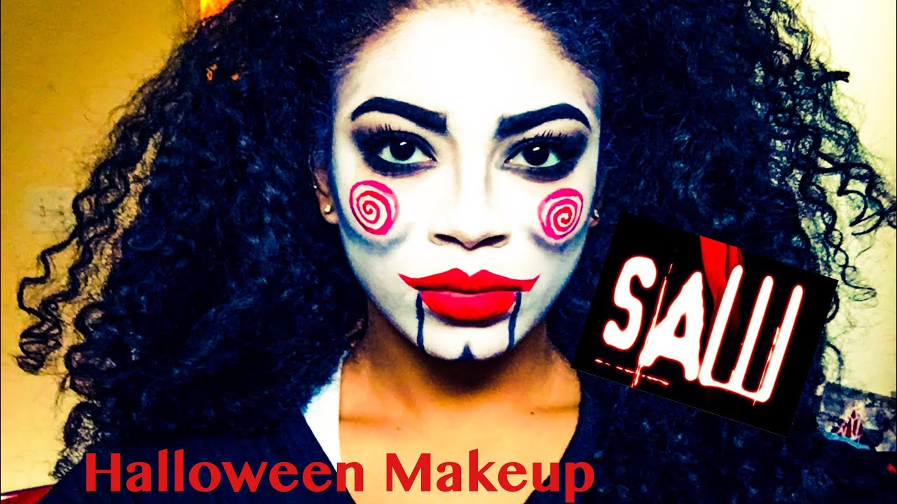 Saw Billy the Puppet Halloween Makeup Tutorial | jasmeannnn - YouTube