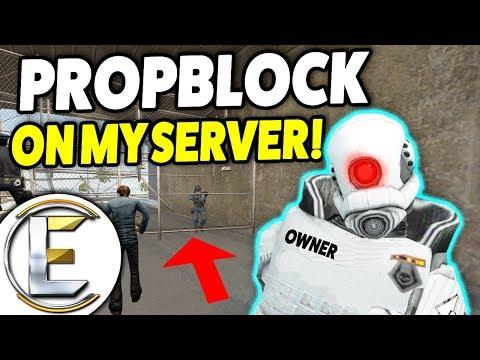 PROPBLOCK SPAWN ON MY SERVER! - Gmod DarkRP Admin Life (No Staff Online)