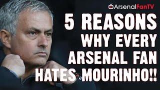 Man Utd vs Arsenal | 5 Reasons Why Every Arsenal Fan Hates Jose Mourinho!