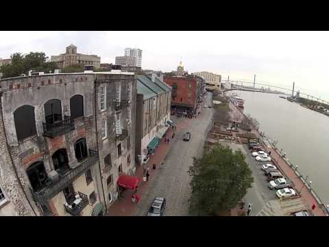 A Walk Down River Street in Savannah GA - An Aerial View