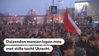 LIVE beelden stille tocht voor slachtoffers aanslag Utrecht