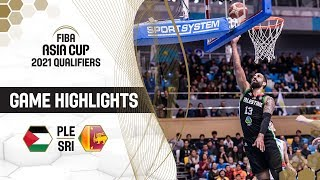 Palestine v Sri Lanka - Highlights - FIBA Asia Cup 2021 - Qualifiers