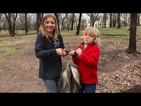 Sand Bass Fishing in the Creek *Catch, Clean, and Cook*
