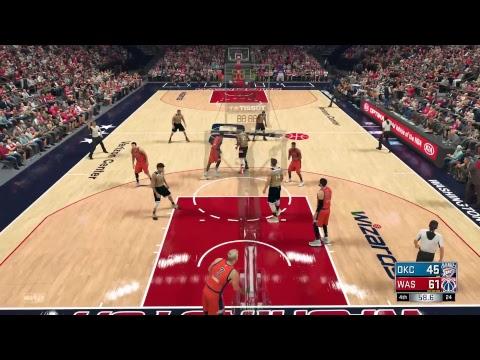 NBA 2K17 PS4 PRO Online OKC Thunder vs Washington Wizards