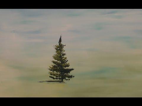 Как рисовать елки гуашью
