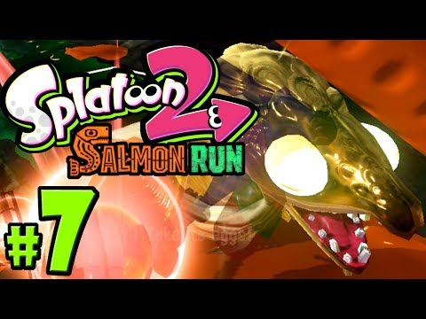 Splatoon 2 - Salmon Run PART 7 - Nintendo Switch Gameplay Walkthrough - Goldie Seeking - Paygrade Up