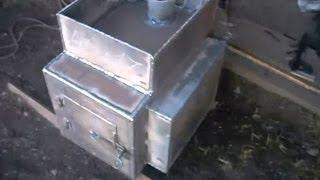 как сделать печь для бани своими руками - вода не закипит(Интересная конструкция банной печи - котёл объёмом 15 литров соеденяется с баком шлангами сам бак может..., 2014-05-06T03:25:34.000Z)