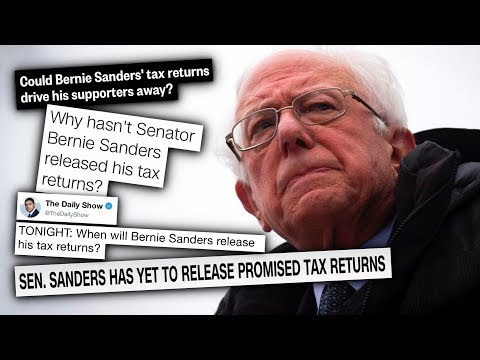 Media REALLY Wants to See Bernie Sanders' Tax Returns (Other Candidates? Meh.)