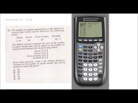 Act calculator strategies ti-84+ youtube.