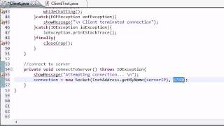 Intermediate Java Tutorial - 52 - Connecting to the Server