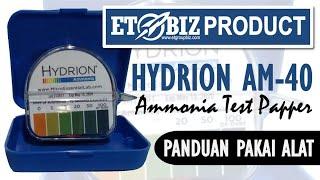 Hydrion AM-40 Ammonia Test Paper 0-100 PPM - Tes Kit Amonia - Teskit NH3 NH4 - Testkit Uji Cepat Amoniak Air