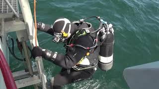 Dykkere på dybt vand ved Bornholm (4 af 5)
