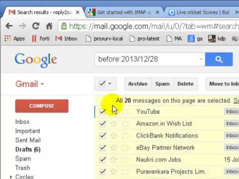 How To Select All Messages In Inbox In Gmail