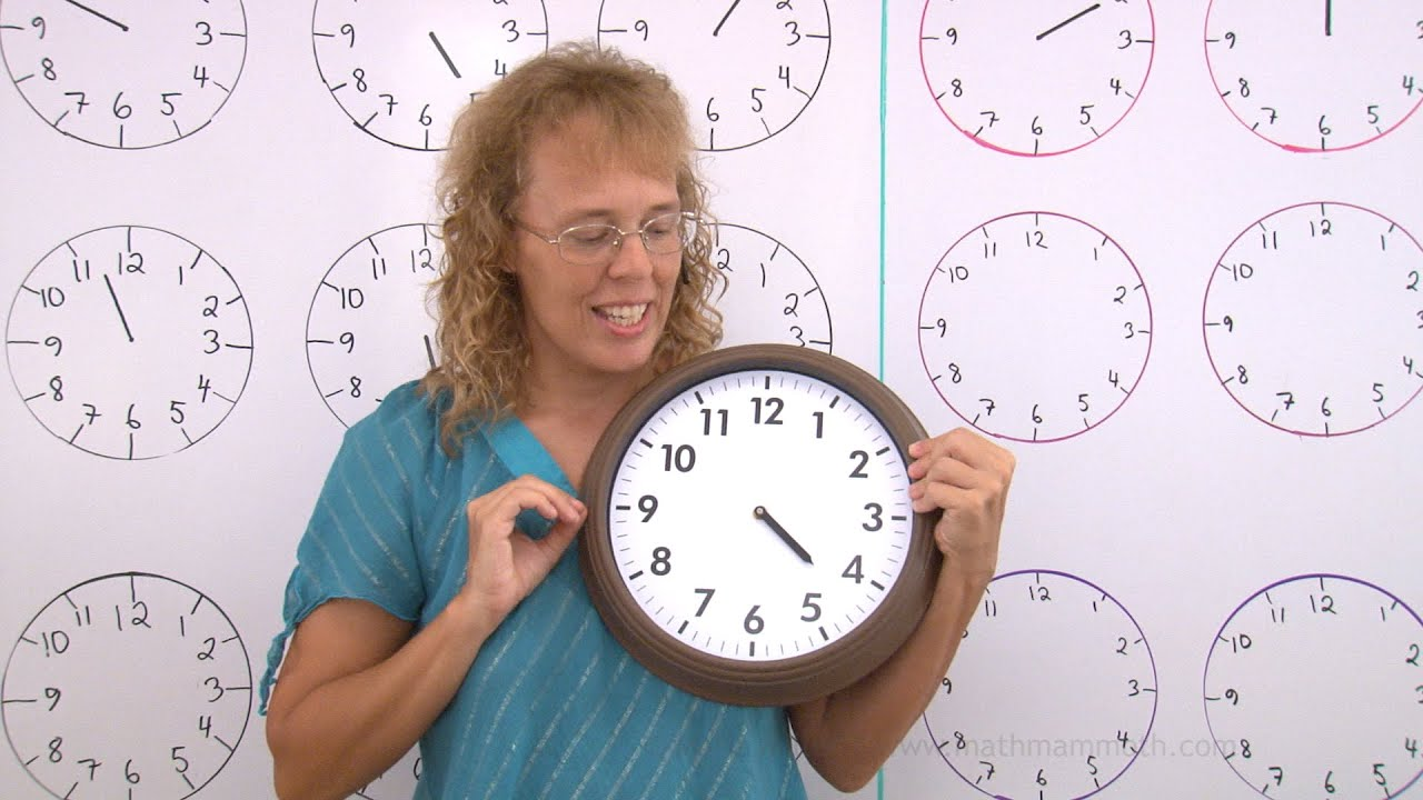 Learn To Tell Time Whole And Half Hours