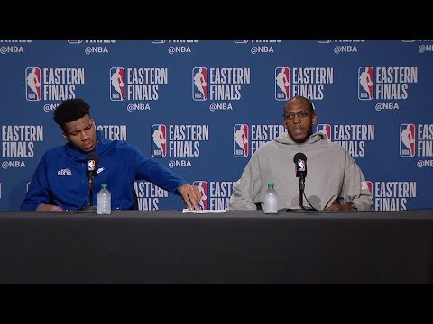 Giannis Antetokounmpo & Khris Middleton Postgame Interview - Game 6 | May 25, 2019 NBA Playoffs