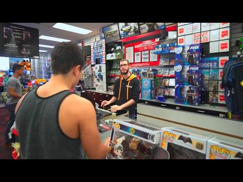 Kid Steals Dads Car To Buy Things In GameStop! MUST WATCH!!!
