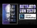 Poster retrato con efecto de texto | Tutorial de diseño en Photoshop