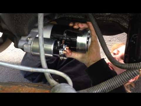 How to change the Starter On a Jeep Wrangler '93 YJ  YouTube