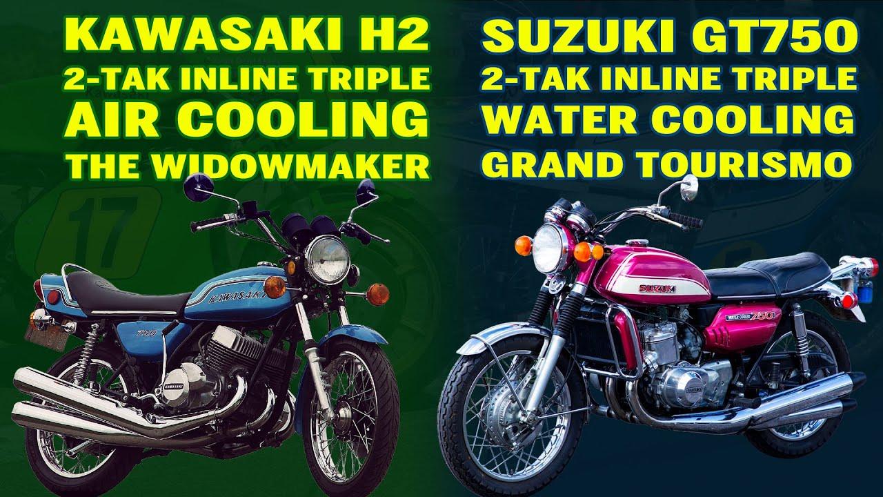 Suzuki GT750 v Kawasaki H2 | 2 STROKE MONSTER | History Lesson
