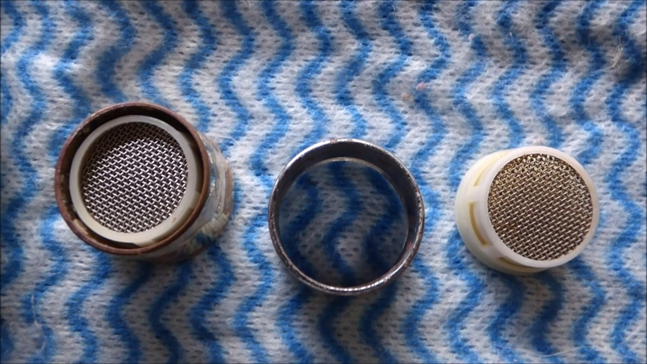 fulltime rving how to clean faucet filter screens