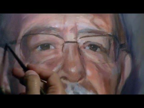 Retrato al óleo. Oil portrait.