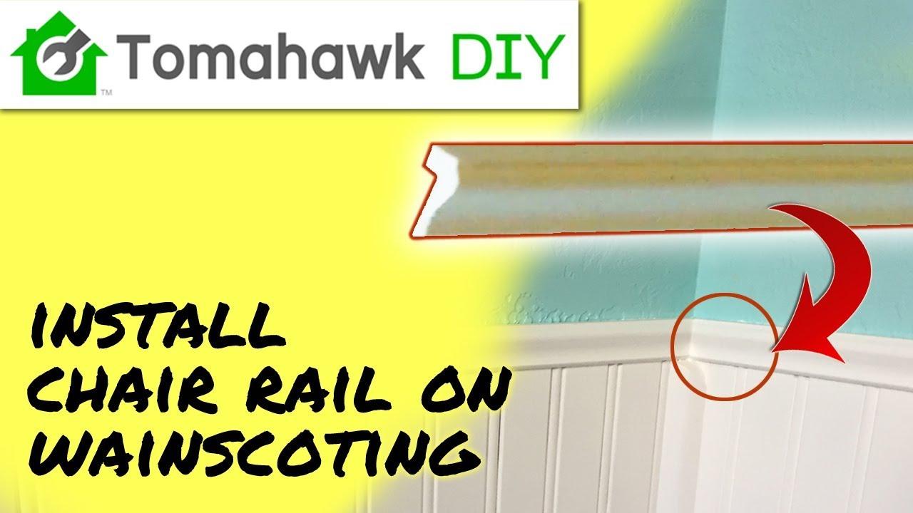 beadboard chair rail rei flex lite vs helinox install and quarter round on wainscoting youtube