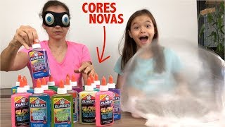 DESAFIO DO SLIME COM 3 CORES DE COLA!! 3 COLORS OF GLUE SLIME CHALLENGE!