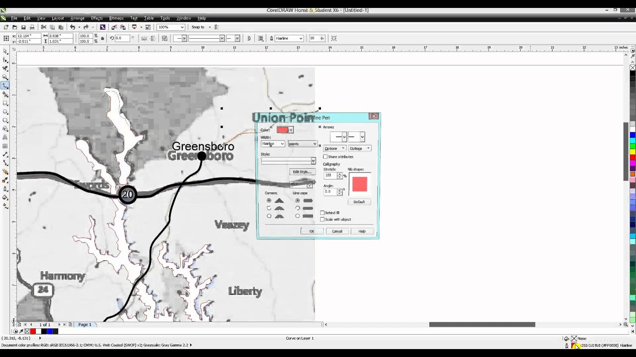 Corel draw tips tricks making a lake map 2 youtube corel draw tips tricks making a lake map 2 gumiabroncs