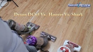 Dyson Demo | Dyson DC65 Animal Vacuum vs. Hoover Air Pro vs. Shark Rotator | Upright Bagless Vacuums