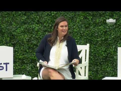 White House Easter Egg Roll Reading Nook - Press Secretary Sarah Sanders