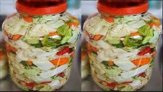 ***EV YAPIMI KARIŞIK TURŞU TARİFİ*** Homemade pickles recipe
