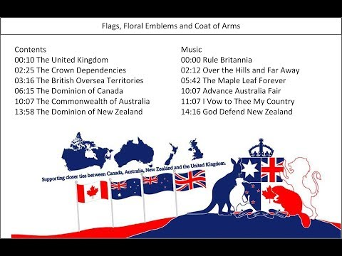 The Union Jack And Flags Of The UK, Canada, Australia And New Zealand (CANZUK)