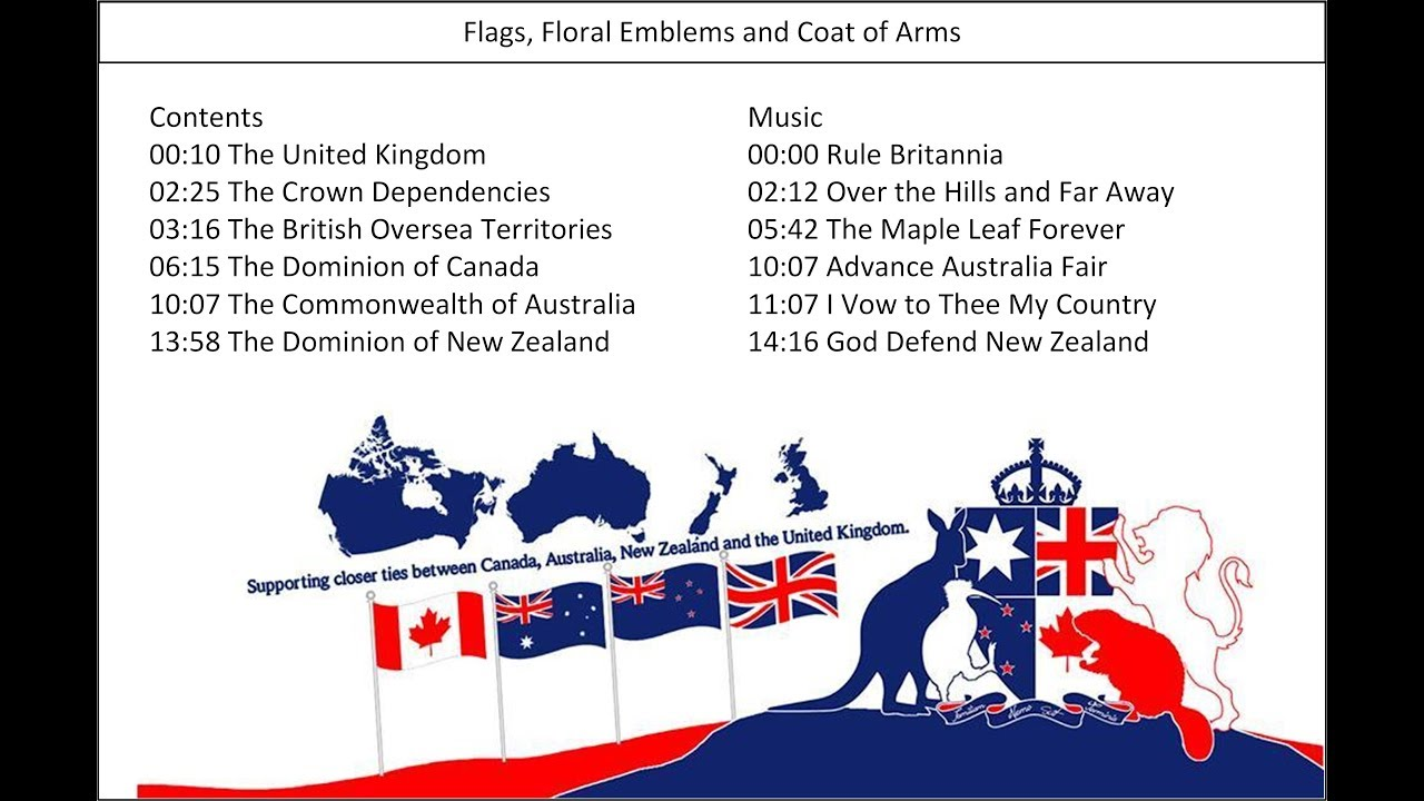 The Union Jack and Flags of the UK, Canada, Australia and New ...