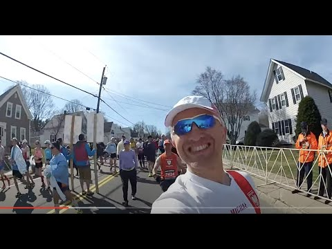Boston Marathon 2014  - runner's POV from start to finish